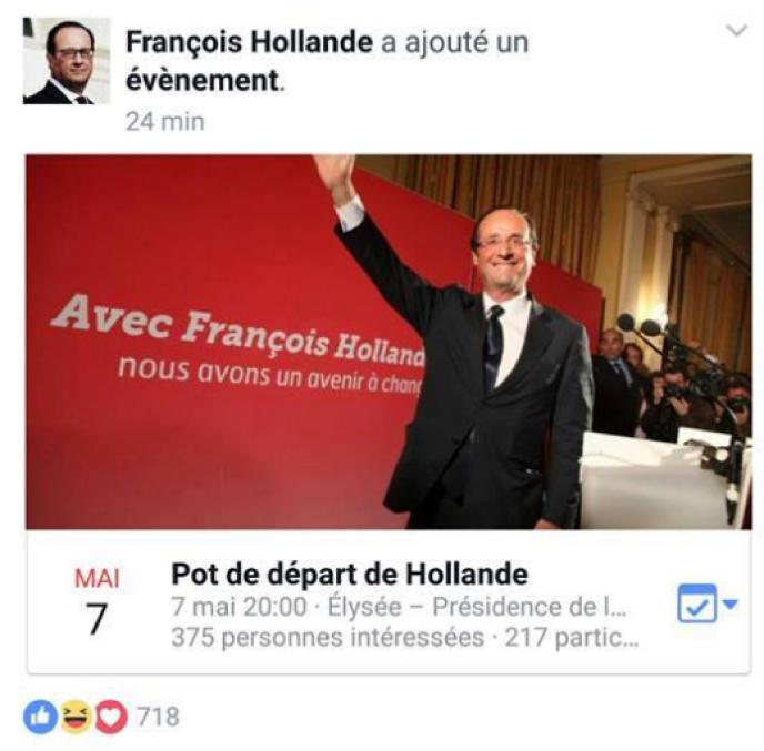 La Page Facebook De François Hollande Affiche Brièvement Une