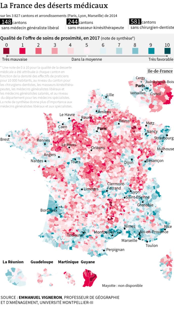 La France des déserts médicaux