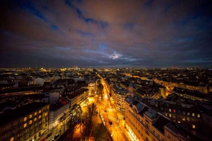 Une vue de Vienne, la capitale de l'Autriche, le 13 novembre 2016.