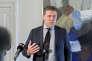 Le prmier ministre islandais, Bjarni Benediktsson, lors d'une conférence de presse à Reykjavik, le 2 novembre.