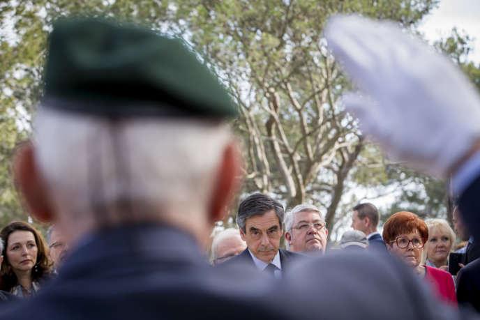 François Fillon au Mémorial du Mont Faron à Toulon, vendredi 31 mars.