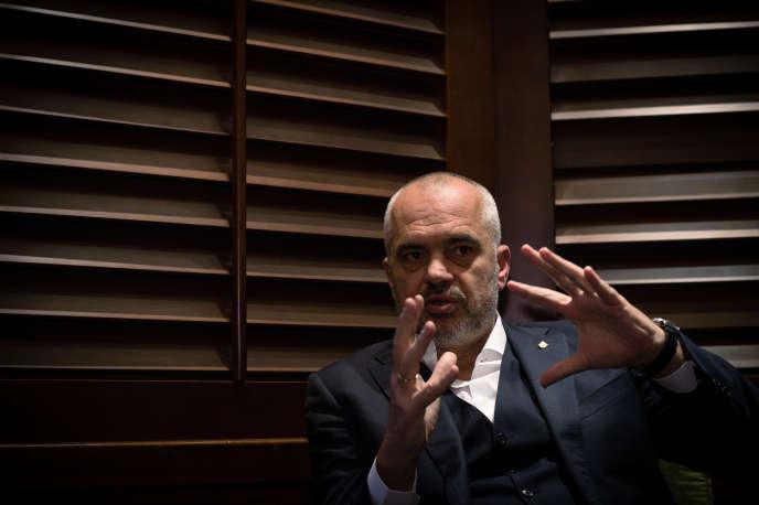 Le premier ministre albanais Edi Rama, en octobre 2016 à Belgrade.