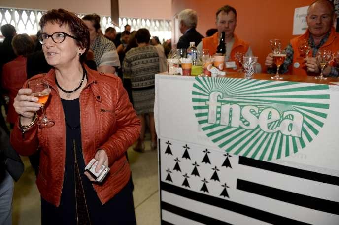 Christiane Lambert, présidente par intérim de la FNSEA, lors du 71e congrès du syndicat professionnel, mercredi 29mars à Brest.