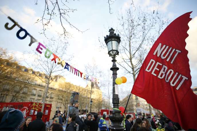 Place de la République, à Paris, le 31 mars 2017.