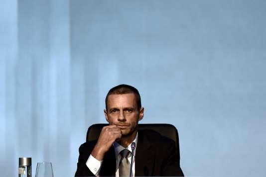 Le président de l'UEFA, Aleksander Ceferin, le 14septembre, à Athènes.