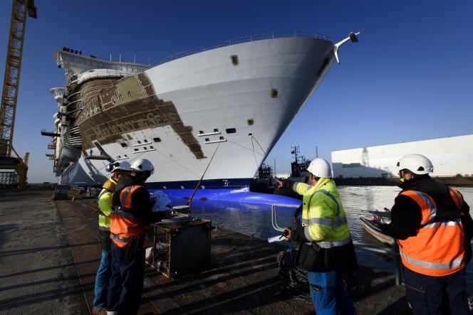 L'« Harmony of the Seas », plus gros paquebot au monde, a été construit à Saint-Nazaire entre 2013 et 2016.