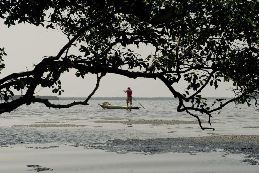 Les pêcheurs de Chilaw se sont transformés en véritables« rangers» du lagon.La plupart du temps, ils n'ont pas à intervenir : les habitants de la région ont compris que protéger la mangrove garantissait les moyens de leur propre survie.