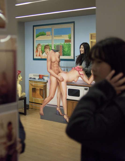 Au «musée de l'amour» à Séoul, le 25 février 2015.