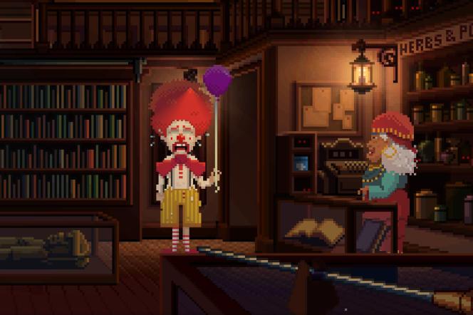 Les clowns et les sorcières vaudoues ne sont jamais très loin dans l'oeuvre de Ron Gilbert.