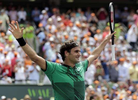 Roger Federer, le 2 avril à Miami.