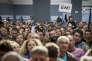 Meeting de campagne d'Emmanuel Macron, candidat du mouvement En marche ! au Parc Chanot à Marseille le 1er avril.