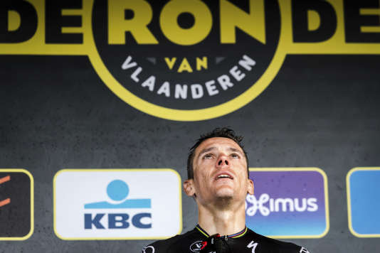 Philippe GIlbert, ici après sa victoire dans le Tour des Flandres.