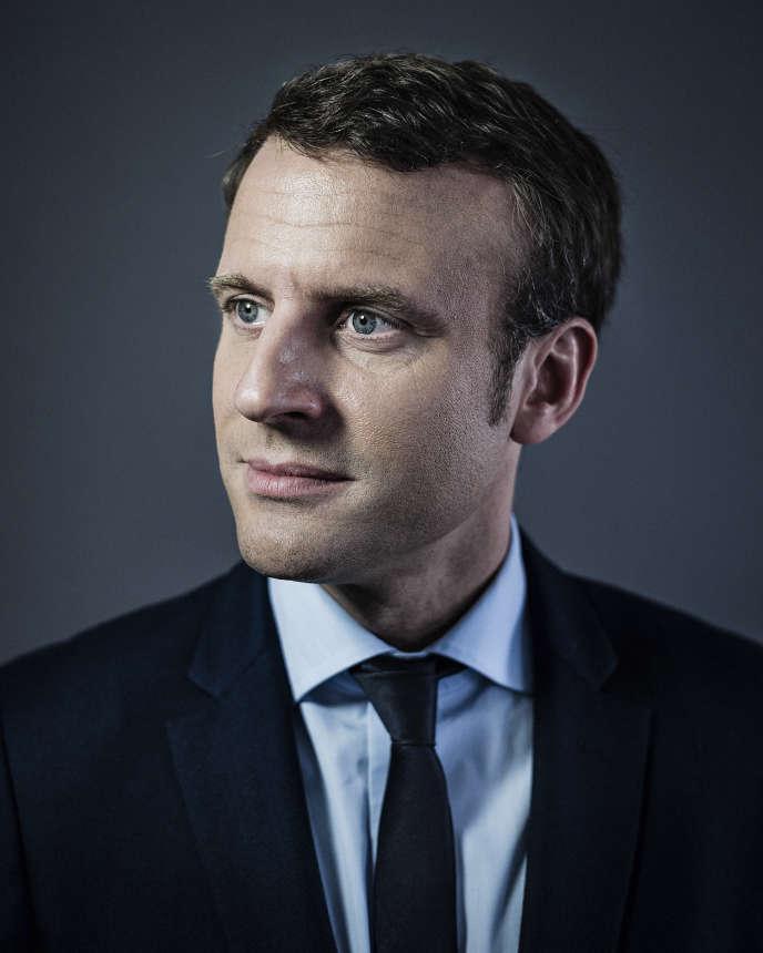 Emmanuel Macron à son QG campagne parisien, à Paris, en avril 2017.