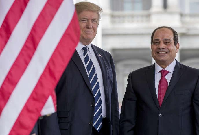 Donald Trump et Abdel Fattah Al-Sissi se rencontrent à la Maison Blanche, le 3 avril.