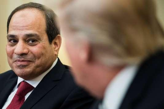 Le président égyptien Abdel Fattah Al-Sissi lors de sa rencontre avec Donald Trump à la Maison Blanche, le 3 avril.