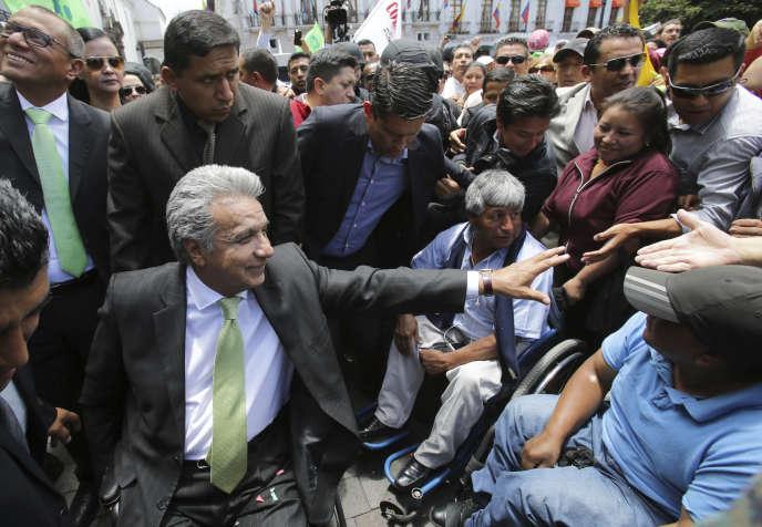 Lenin Moreno à Quito, le 3 avril.