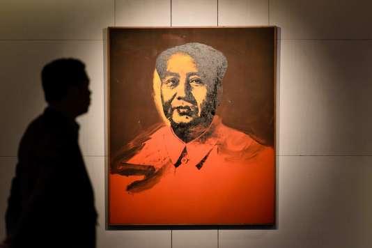 Sotheby's espérait 14 millions d'euros pour ce portrait sérigraphié peint en 1973 par Andy Warhol.