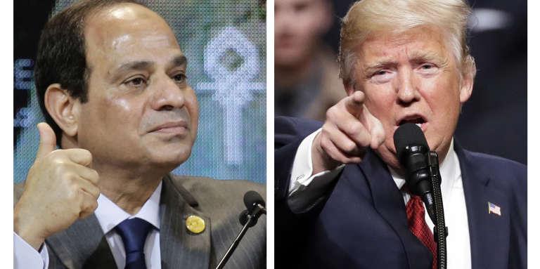 Les présidents égyptien et américain, Abdel Fattah Al-Sissi et Donald Trump.