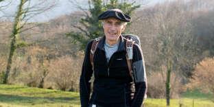 Louis Espinassous près de chez lui, à Buzy, dans la vallée d'Ossau, mi-février.