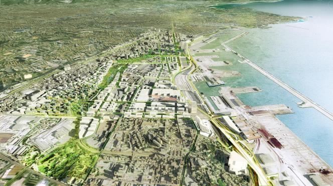 Les projets Euromed 1 et 2 s'étendent doivent redessiner le la façcade maritime marseillaise