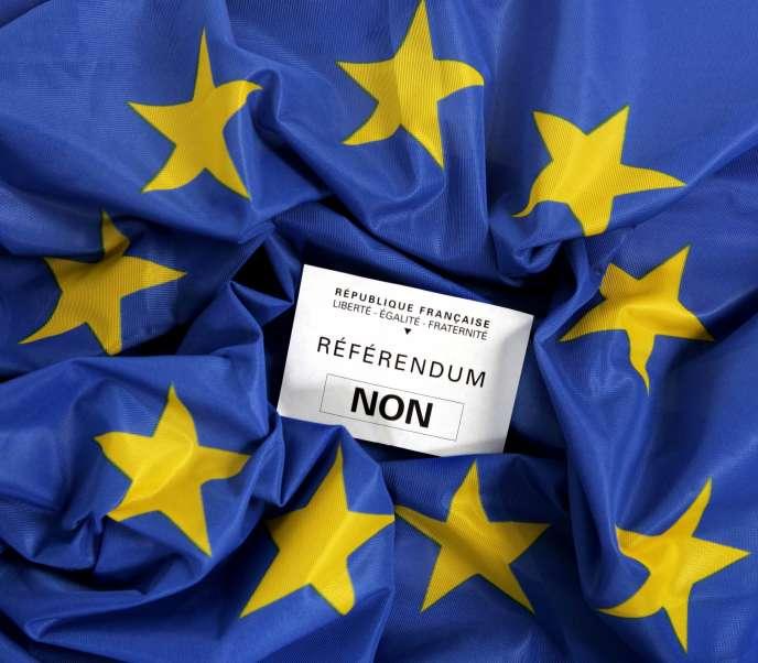 Un bulletin pour le «non» au référendum sur la Constitution européenne de mars 2005.