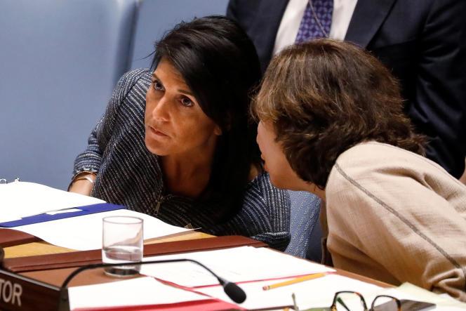 Nikki Haley, la représentante des Etats-Unis à l'ONU, à New York, le 4 avril.