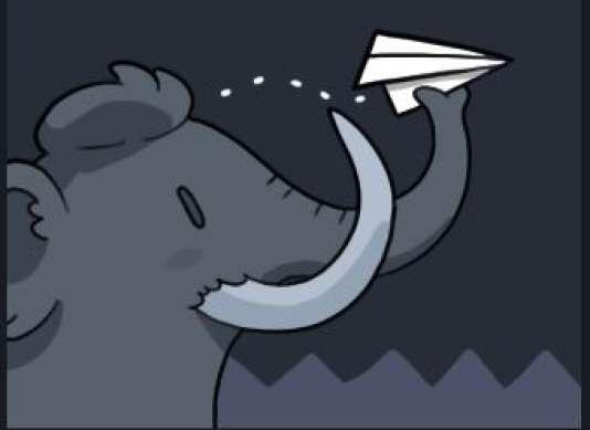 Le mastodonte, mascotte de Mastodon, suggère toute la place laissée aux messages, qui font 500 signes.