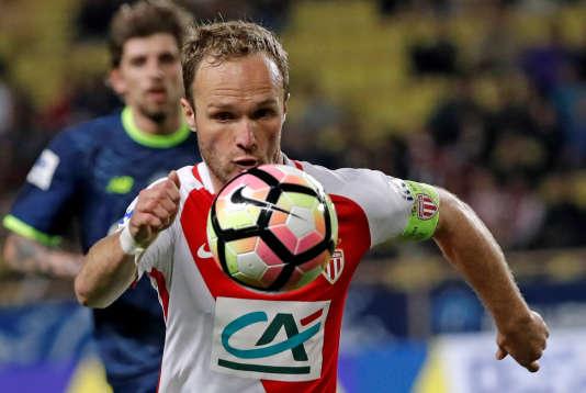 Monaco a pu compter sur son capitaine du soir Valère Germain, auteur d'un doublé, contre Lille, mardi4 avril.