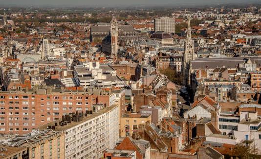 La ville de Lille. AFP PHOTO / PHILIPPE HUGUEN