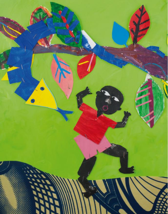 Illustration réalisée par Daniel Tornero Rojo à partir des dessins des enfants d'Oussouye, en Casamance.
