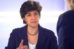 Sylvie Goulard, de l'équipe de campagne d'En Marche a répondu aux questions d'Alain Frachon, éditorialiste au «Monde».