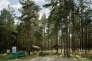 Aire de pique-nique dans les environs de Bialystok, en Pologne, 2004.