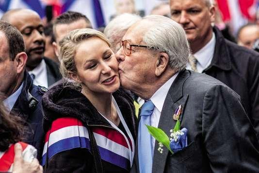 Marion Maréchal-Le Pen et son grand-père Jean-Marie Le Pen.