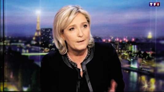 Marine Le Pen au JT de TF1.
