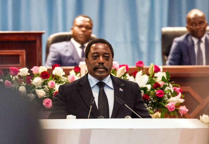 Le président de RDC Joseph Kabila, le 5 avril 2017.