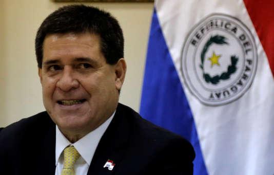 Le président paraguayen Horacio Cartes le 15 avril à Asuncion.