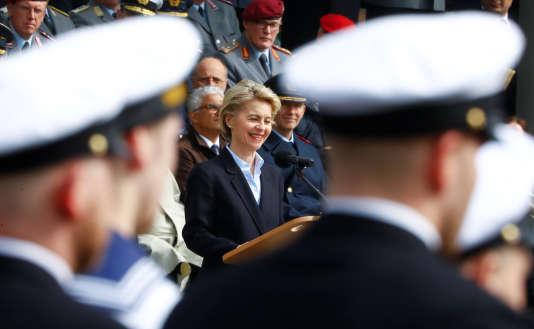 La ministre de la défense allemande Ursula von der Leyen, lors d'un discours à Bonn, en Allemagne, le 5avril 2017.