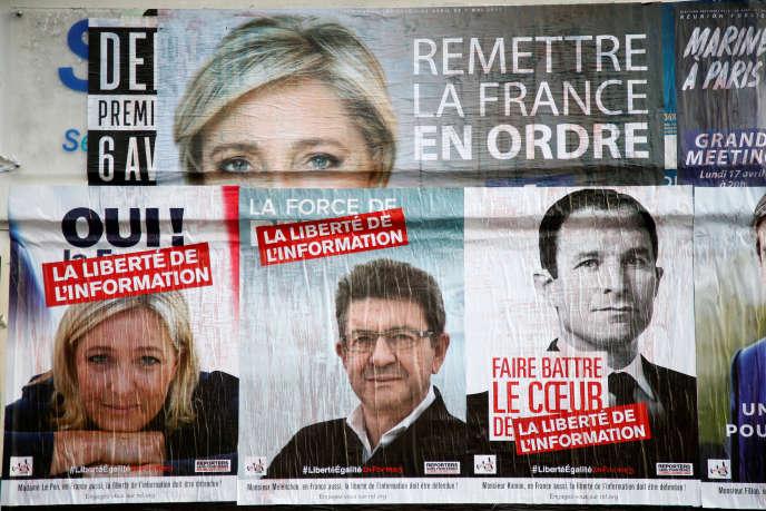 A Paris, le 5 avril 2017, lors de la campagne pour l'élection présidentielle.