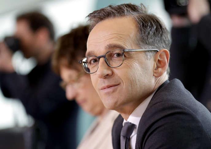 Heiko Maas, le ministre de la justice allemand, le 5 avril, à Berlin, lors du conseil des ministres.