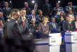 Débat télévisé entre les onze candidats à la présidentielle 2017 sur BFM et CNews au studio 210 de La Plaine Saint Denis, mardi 4 avril 2017 - 2017©Jean-Claude Coutausse / french-politics pour Le Monde