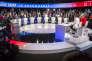 « Répondre à la question «qui a gagné?» au regard des standards de la communication politique demeure l'angle privilégié par les journalistes politiques» (Photo: débat télévisé entre les onze candidats à la présidentielle 2017 sur BFM et CNews, le 4 avril).