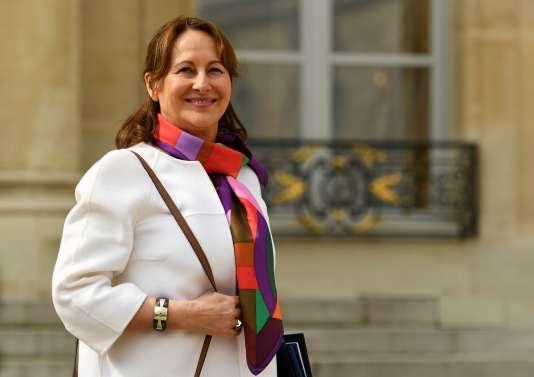 Ségolène Royal, le 5 avril 2017, à l'Elysée.