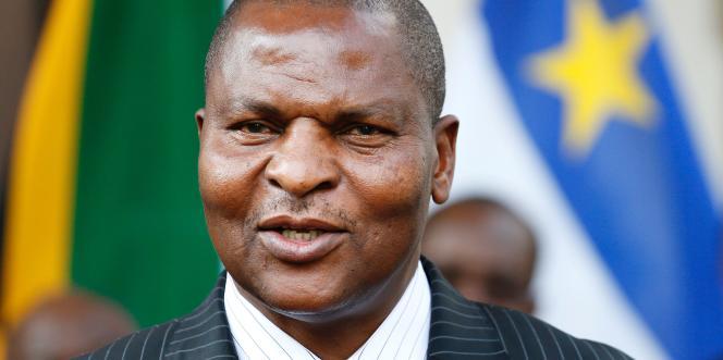Le président centrafricain, Faustin-Archange Touadéra, à Pretoria, en Afrique du Sud, le 5avril 2017.