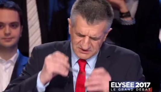 Jean Lassalle lors du débat des candidats à la présidentielle, sur BFM-TV et CNews, mardi 4avril.