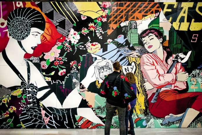 Les œuvres du collectif Faile sont exposées à Roubaix.