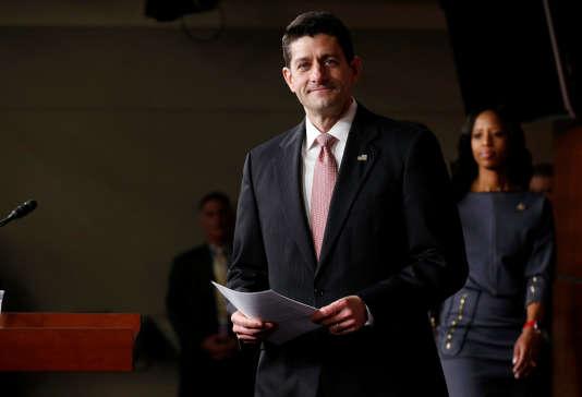 Paul Ryan,président républicain de la Chambre des représentants, le 6 avril à Washington.