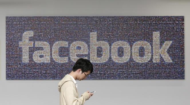 Au siège de Facebook à Menlo Park, en Californie, en 2014.