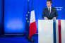 Emmanuel Macron lors d'une conférence de presse à son QG dans le 15e arrondissement de Paris, le 28 mars.