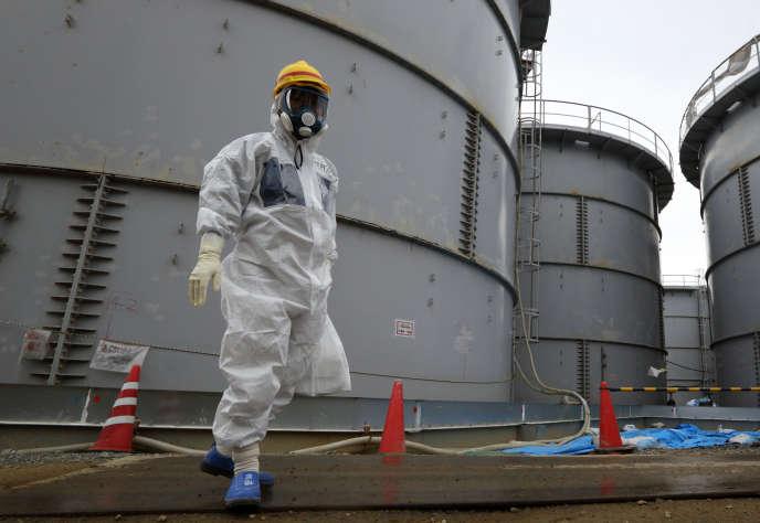 A la centrale de Fukushima, en novembre 2013.