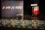 Scène du meeting de Marine Le Pen à Monswiller (Bas-Rhin) le 5 avril.